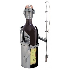 Fisherman 1 Bottle Tabletop Wine Rack by H & K SCULPTURES