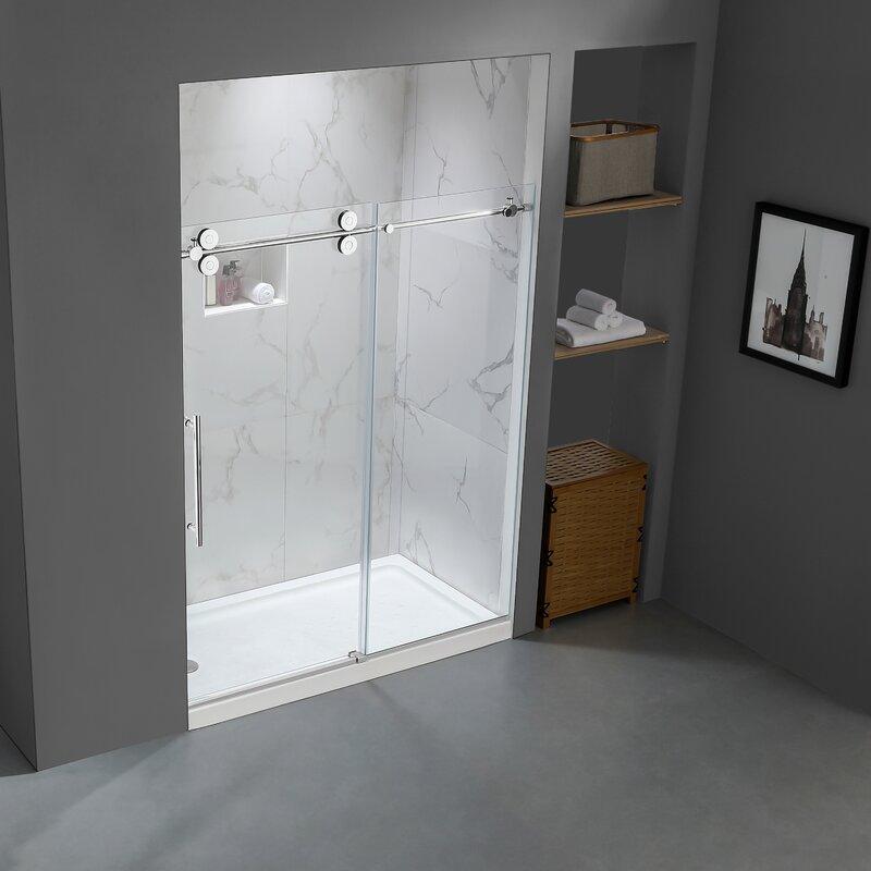 Single Sliding Frameless Shower