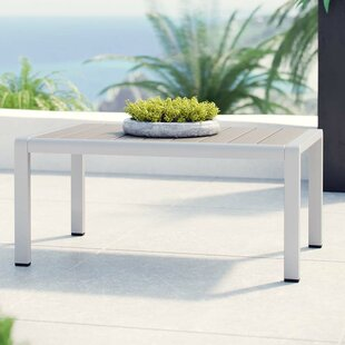Coline Outdoor Metal Patio Coffee Table