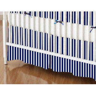 Primary Stripe Woven Crib Skirt By Sheetworld