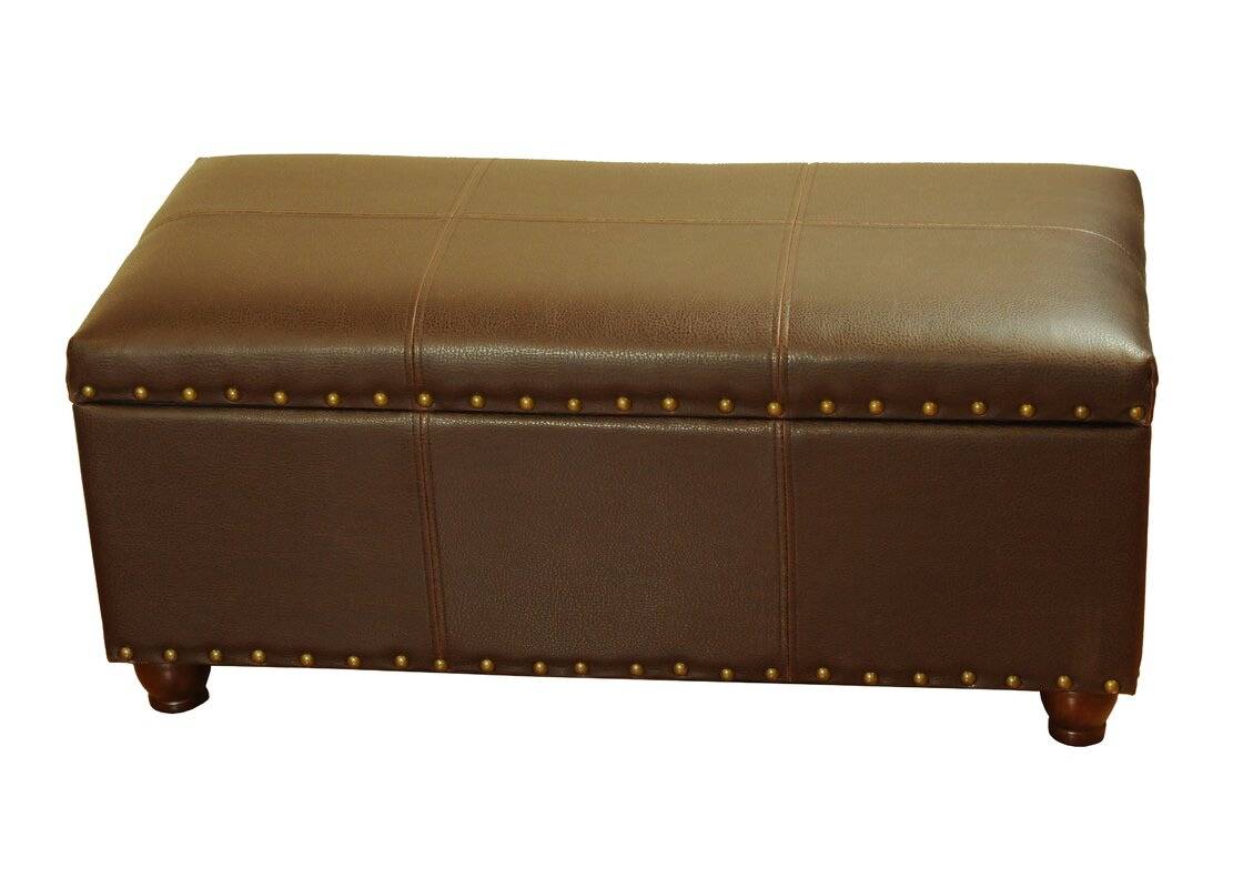 Rohrbaugh Faux Leather Storage Bench