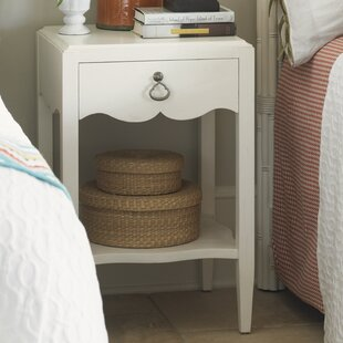 Ivory Key 1 Drawer Nightstand