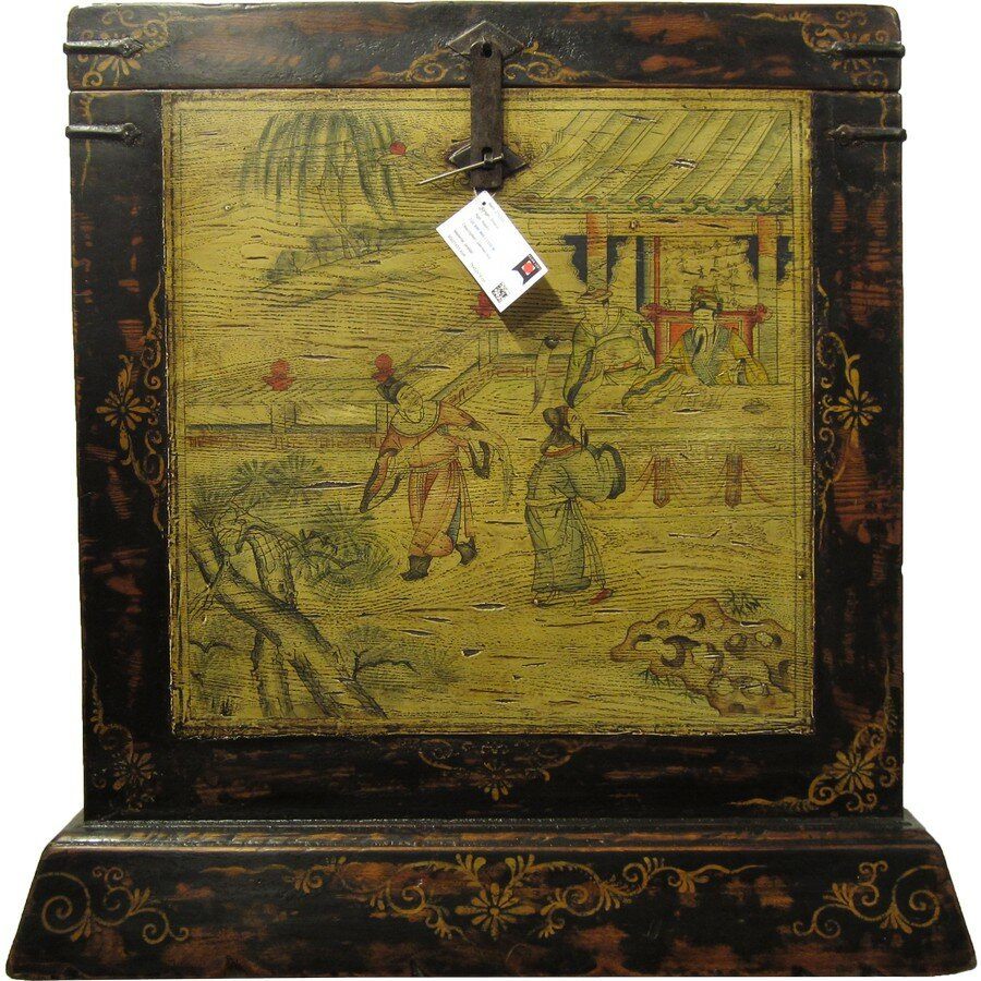 Agustin Painted Accent Trunk By Bloomsbury Market