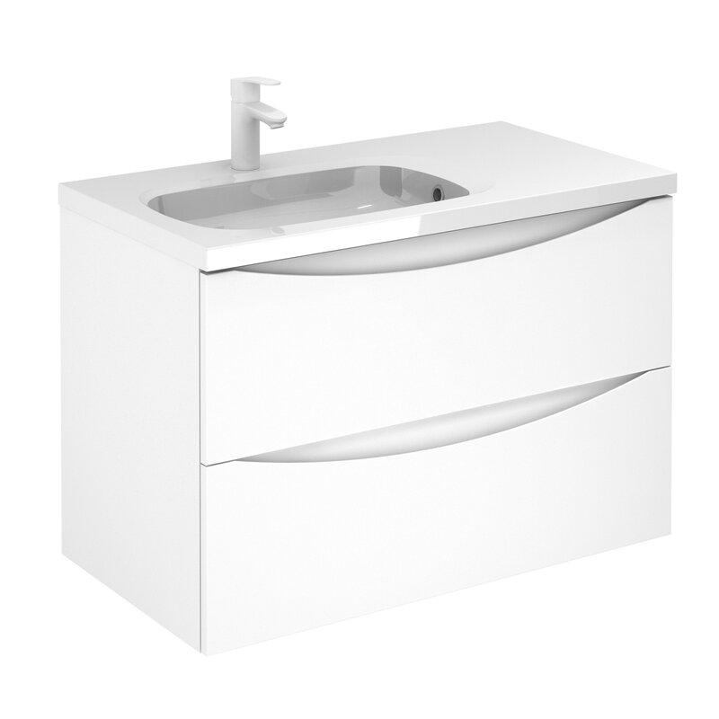 Corrigan Studio Brigham 2 Drawer 36 Wall Mounted Single Bathroom Vanity Set Wayfair
