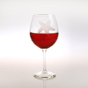 Starfish Balloon 18oz. Wine Glass (Set of 4)