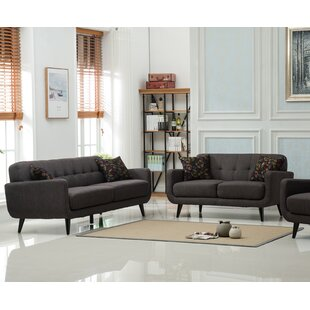 Modibella 2 Piece Living Room Set by Roundhill Furniture