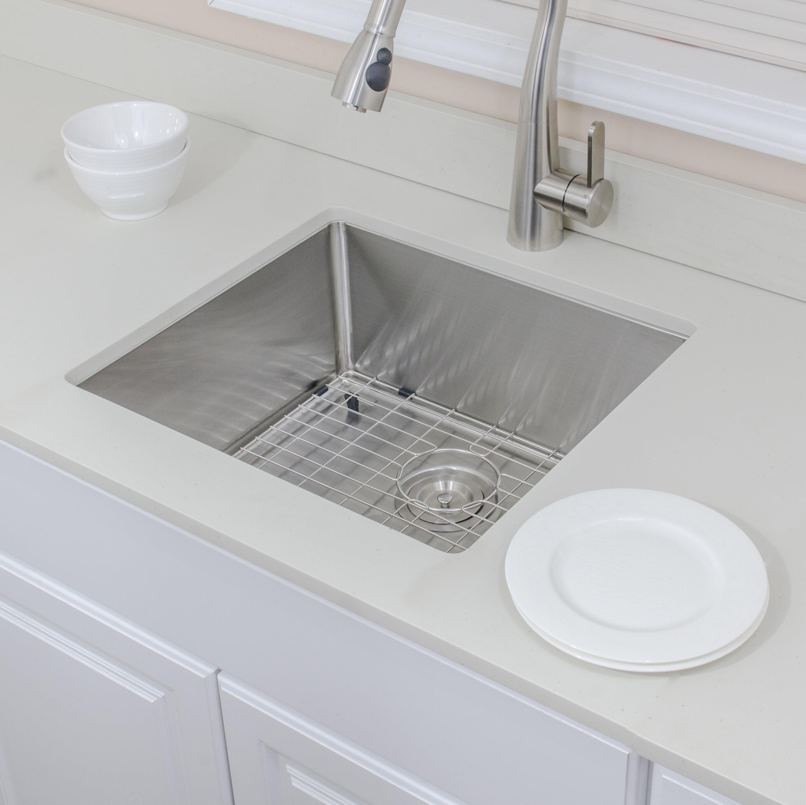 Wells Sinkware Chef S Series 21 L X 19 W Undermount Kitchen Sink With Basket Strainer And Grid Wayfair