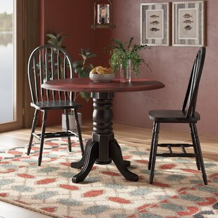 Canale 3 Piece Drop Leaf Solid Wood Dining Set by Charlton Home