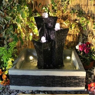 Kaylum Resin Water Feature With Light Image