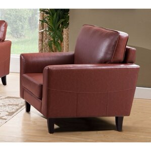 Kinnas Sophisticated PU Leather Armchair by ..
