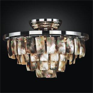 Mailbu 6-Light Semi-Flush Mount by Glow Lighting