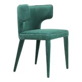 Elyria Upholstered Wingback Side Chair in Green by Corrigan Studio®