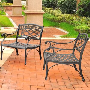Lomax 2 Piece Cast Lounge Chair (Set of 2)