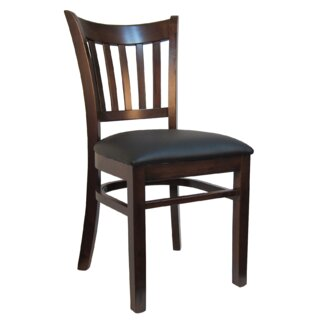 Open Vertical Back Wood Upholstered Dining Chair (Set of 2) by H&D Restaurant Supply, Inc. SKU:AA840654 Order