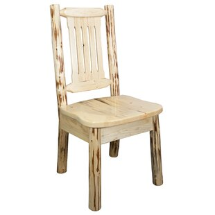 Abordale Slat Back Solid Wood Dining Chair by Loon Peak
