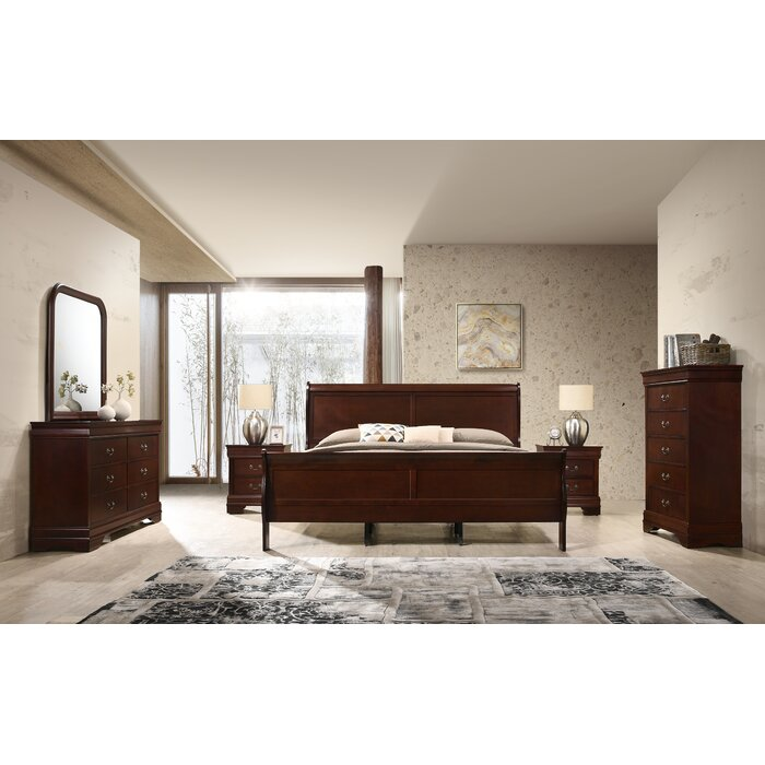 Braiden Sleigh 6 Piece Bedroom Set