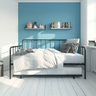 Longwell Metal Daybed with Trundle by Ebern Designs