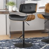Arlon Adjustable Height Swivel Bar Stool by Wade Logan®