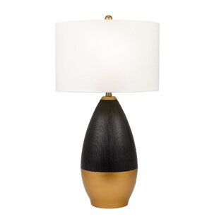 Gish Transitional Metallic Ribbed 30 Table Lamp