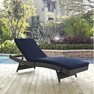 Brayden Studio Tripp Chaise Lounge with Cushion