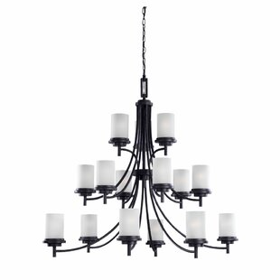Three Posts Dashiell 15-Light Shaded Chandelier