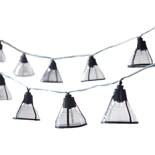 Solar 20-Light 14.75 ft. Lantern String Lights