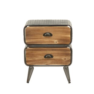Krish Rounded 2 Drawer Nightstand