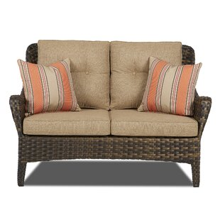 Rouse Patio Loveseat with Cushions by Fleur De Lis Living