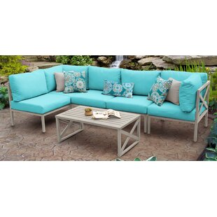 Carlisle Outdoor 6 Piece Sectional Seating Group with Cushions