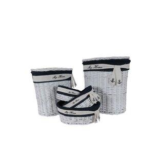Reviews Oval 5 Piece Wicker/Rattan Basket Set ByHarriet Bee