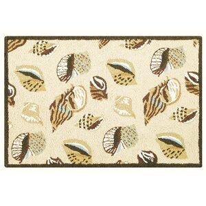 Briana Gold Coast Shells Wool Tan Area Rug
