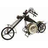 Metal Motorcycle Table Clock