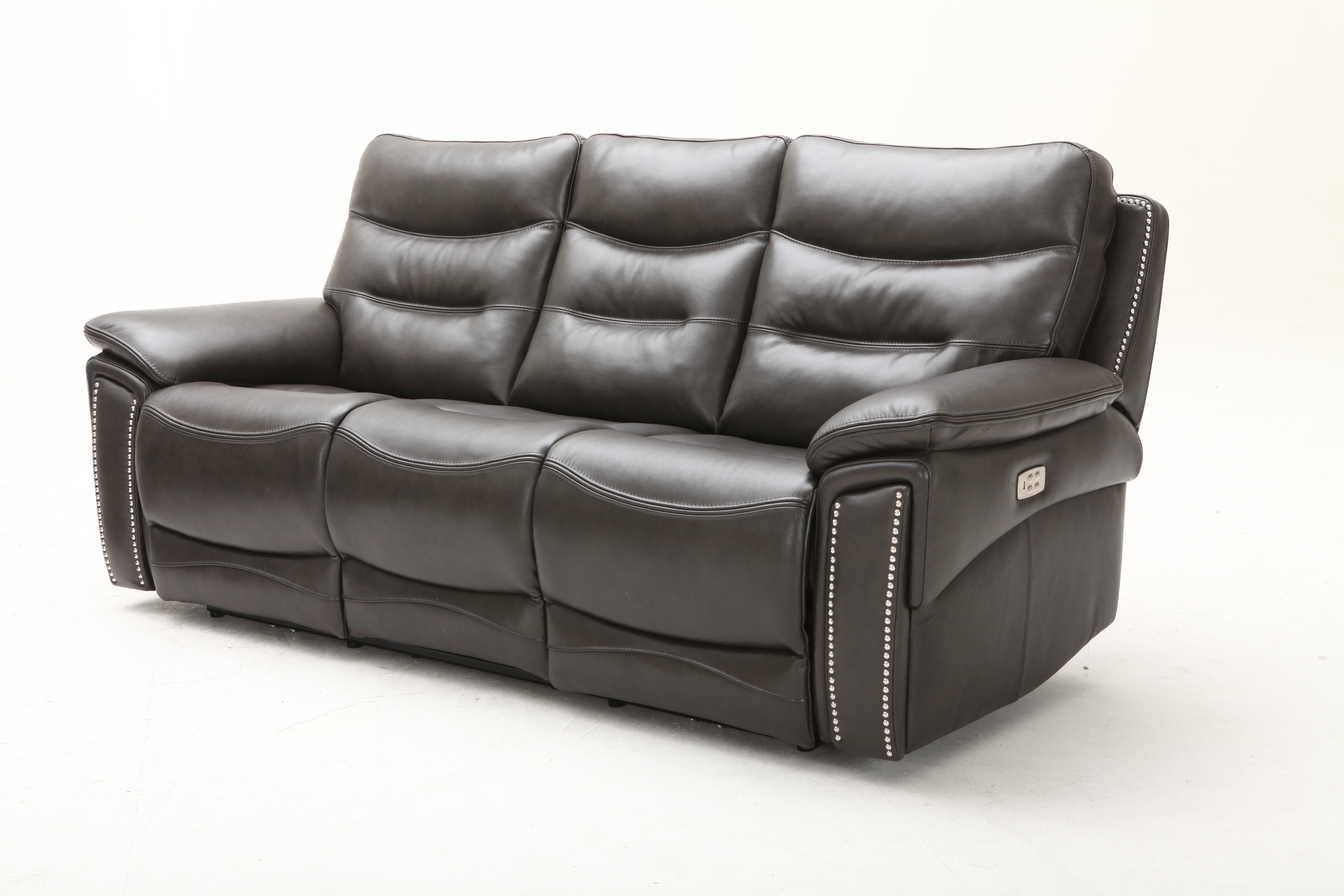 City Lights Leather Reclining Sofa