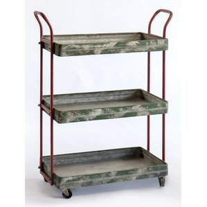 Maize 3 Tier Rolling Bar Cart by 17 Stories