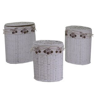 Alessio 3 Piece Wicker Laundry Set By August Grove