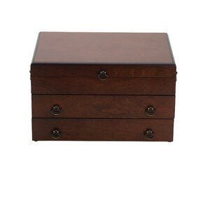 Bristol Grande Mahogany Silverware Chest with Brown Lining