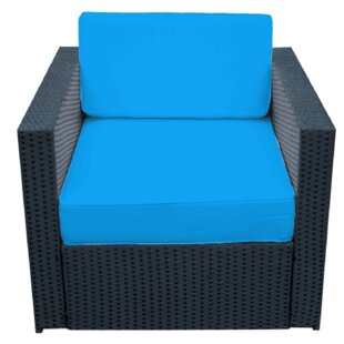 Shallenor Patio Chair with Cushions by Wrought Studio
