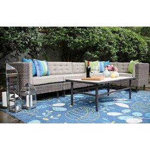 Brayden Studio Kenn 6 Pieces Sunbrella Sectional Set with Cushions