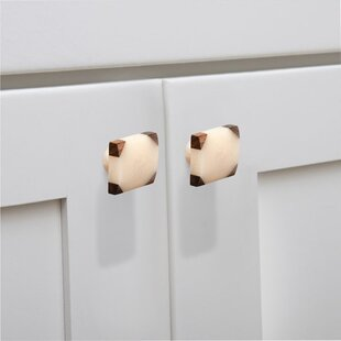 Frosted Timber Corner Cabinet Square Knob (Set of 8)