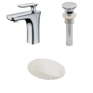 Searching for Ceramic Oval Undermount Bathroom Sink with Faucet and Overflow ByAmerican Imaginations