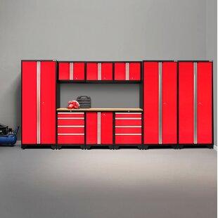 Bold 3.0 10 Piece Garage Storage Cabinet Set with Worktop by NewAge Products