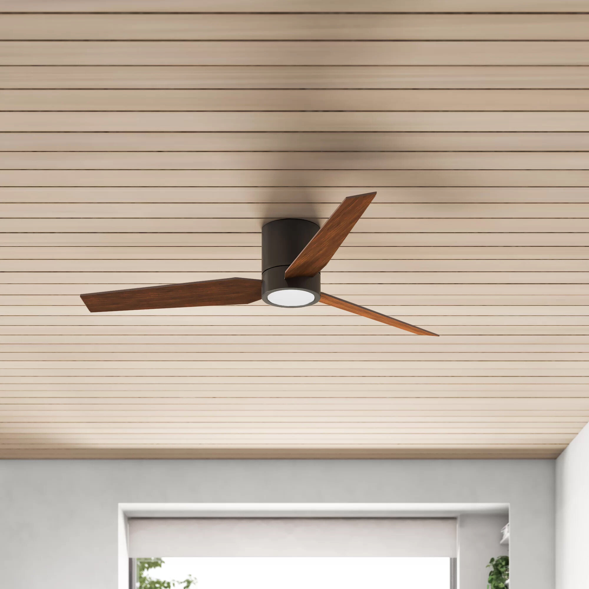 Allmodern 56 Harvin 3 Blade Led Standard Ceiling Fan With Remote Control And Light Kit Included Reviews Wayfair