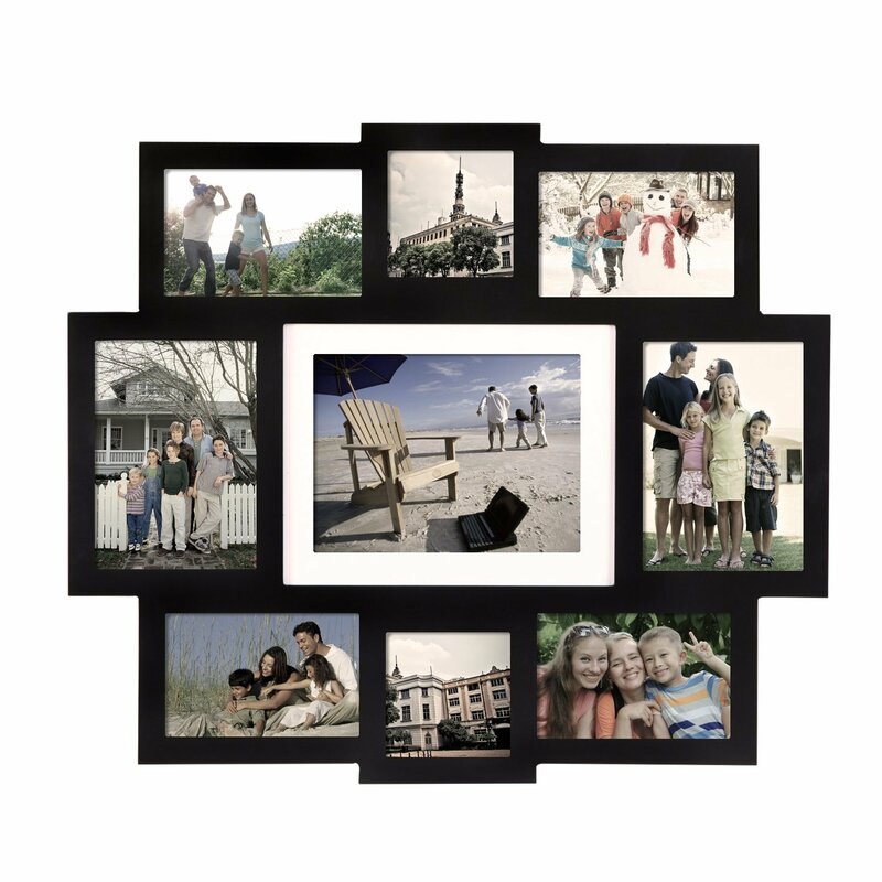 Latitude Run Pilger 9 Opening Central Wall Hanging Picture Frame