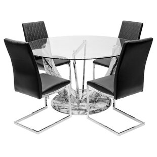 Redmayne Dining Set With 4 Chairs By Metro Lane