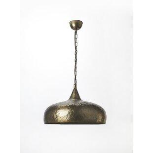 Ginny 1-Light Nickel Teardrop Pendant by Gracie Oaks