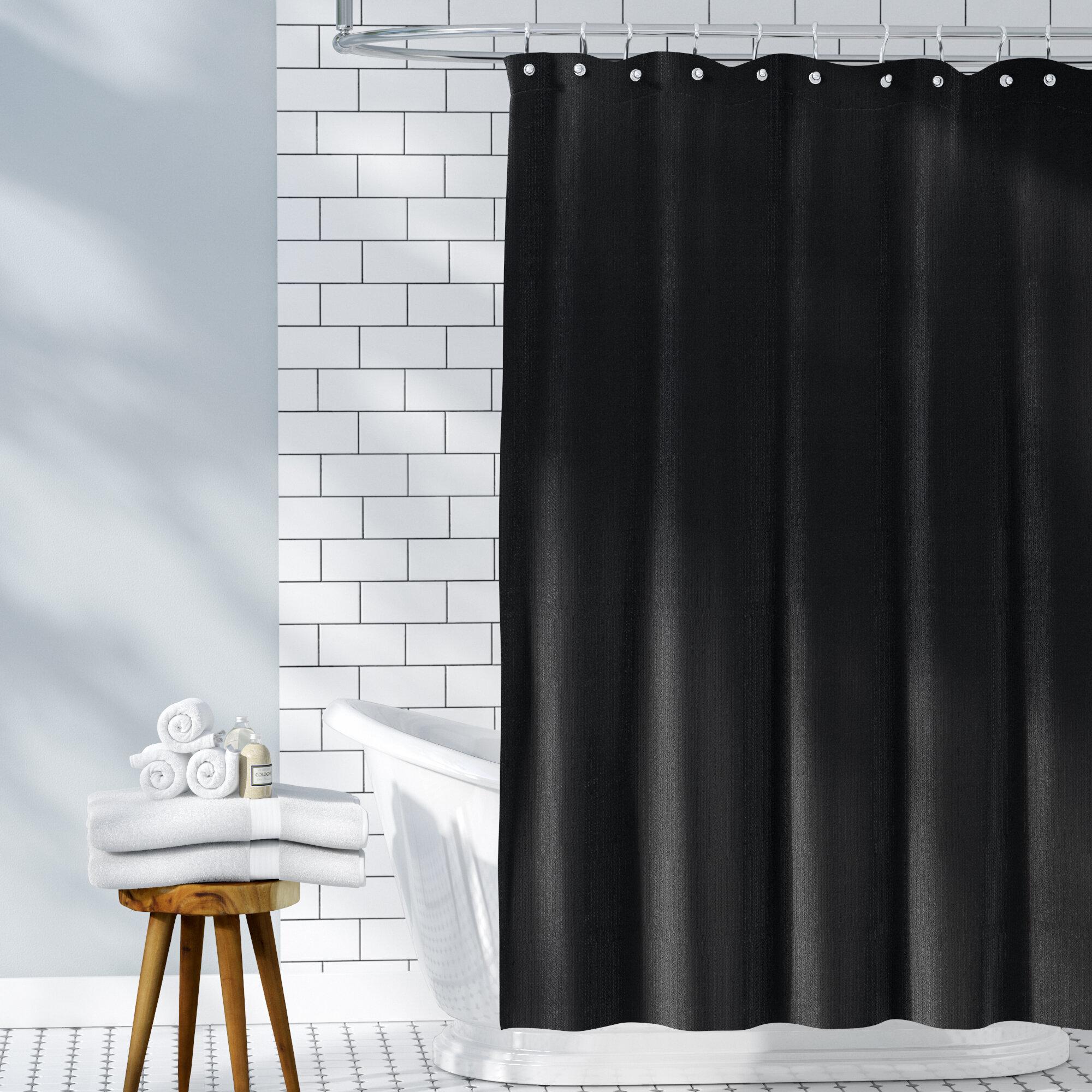 Waffle Weave 100 Cotton Single Shower Curtain