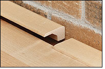 Artistic Finishes Cherry Wood 0 37 Thick X 1 Wide X 78 Length Threshold End Cap In Beige Wayfair