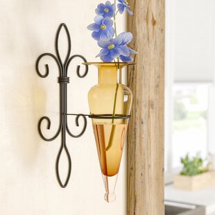 Wan Amphora Vase On Fleur Lis Sconce