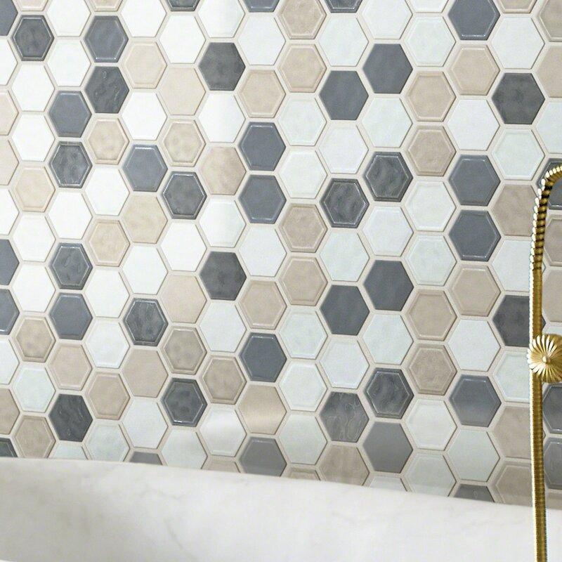 Shaw Floors Victoria Hexagon 1 X 1 Ceramic Mosaic Tile Wayfair