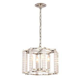 Willa Arlo Interiors Diahann 4-Light Drum Chandelier